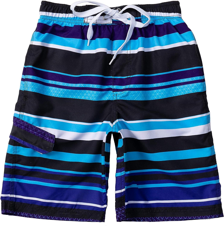 Boys Swim Trunks, Quick Dry Drawstring UPF 50+ Kids Swim Shorts, Toddler Beach Shorts, Boardshort, Boy Swimwear