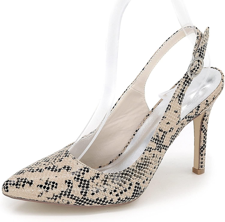 Elobaby Frauen Hochzeitsschuhe PU Handmade Schnalle High Heels    1195-01B   9,5 cm Ferse Backspace  viele Zugeständnisse