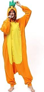 Katara 1744 Funny Rilakkuma Bear Pyjamas For Slumber Parties or Birthdays, Unisex Fancy Dress Overall