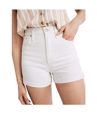 Madewell High-Rise Denim Shorts in Tile White (Tile White) Women