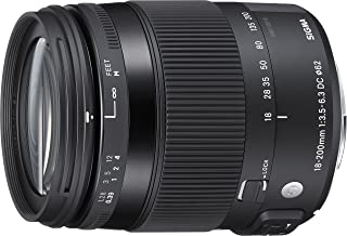 Sigma 885 - Objetivo para canon (distancia focal18-200 mm, macro, estabilización de imagen) negro