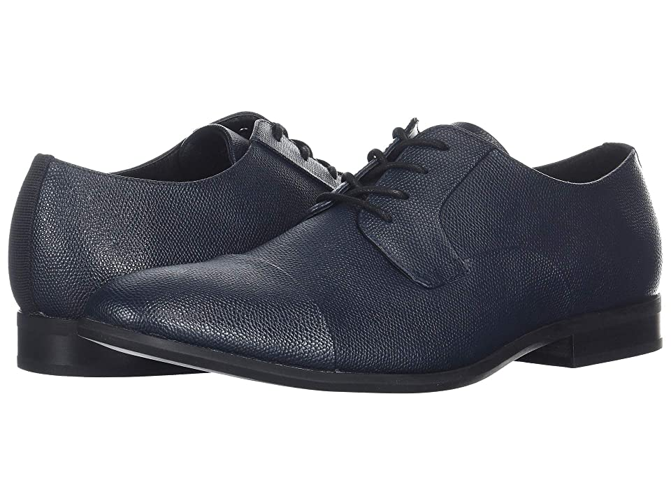 Calvin Klein Langston (Dark Navy Small Tumbled Leather) Men
