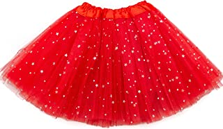 Girls Sparkle Tutu 4-Layered, 14 Colors Ballet Dance Dress-Up Tulle Skirt