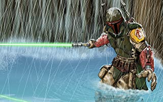 RFG REMOVE FROM GAME Bobba Fett Water Playmat 24 x 14 inch