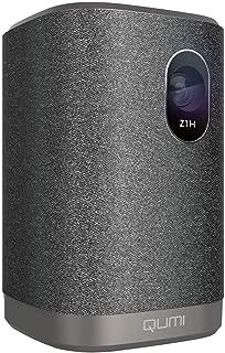 Qumi Z1H 300 lümen HD720p çözünürlük Wi-Fi ve Bluetooth Hoparlörlü Kompakt LED Projeksiyon Cihazı