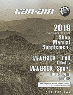 2019 CAN-AM ATV SIDE BY SIDE MAVERICK TRAIL/SPORT SHOP MANUAL SUPPLEMENT (755)
