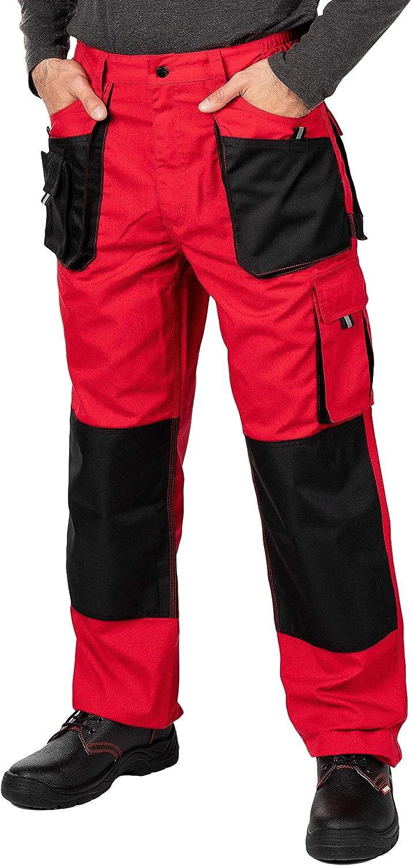 Pantalon de Travail Homme Paysagiste Resistant Poches Genouilleres Vetements