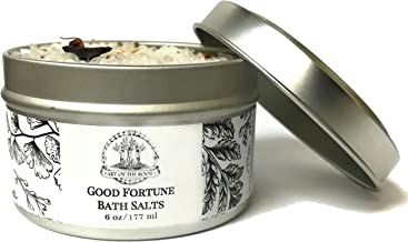 Good Fortune Herbal Bath Salts (6 oz) for Blessings, Healing, Luck & Wishes (Wiccan, Pagan, Hoodoo, Magick)