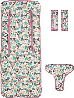 Keep Me Cosy™ Pram Liner Set + Harness & Buckle Cosy (Flamingo)