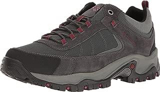 Columbia Men's Granite Ridge Hiking Boot, Dark Grey, red Element, 11 Wide US