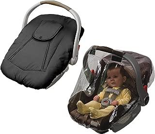 Jolly Jumper Arctic Sneak A Peek Infant Car Seat Cover with Car Seat Rain Cover, Black