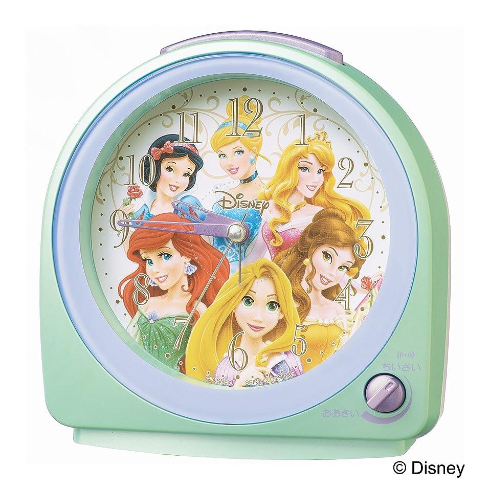 欠如パールインフラセイコークロック 置き時計 02:緑パール 本体サイズ:13.0×12.7×7.1cm 目覚まし時計 アナログ ディズニープリンセス FD989M
