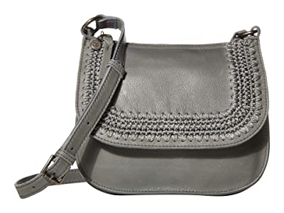 The Sak Playa Leather Saddle Bag (Denim Crochet Inset) Handbags