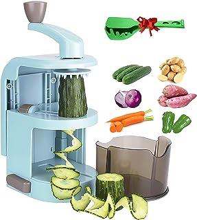 Manual Spiralizer Vegetable Slicer with 4 Rotating Blades Mandolin Slicer for Nut Shredder Veggie Cutter Peeler Cheese Cho...