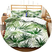 3D Bedding Set Tropical Plants Print Duvet Cover Set Lifelike Bedclothes with Pillowcase Bed Set Home Textiles,4,US Queen,China