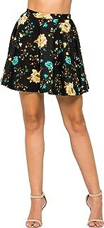 Women's Basic Stretchy Flared Casual Mini Skater Skirt