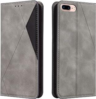 Hoesje voor iPhone 8 Plus / 7 Plus Wallet Book Case, Magneet Flip Wallet met Kaarthouders slots Robuuste schokbestendige B...