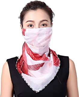 Face Scarf Mask-Dust UV Protection Lightweight Summer Bandanas Adjustable Comfortable Breathable Face Covering For Outdoor