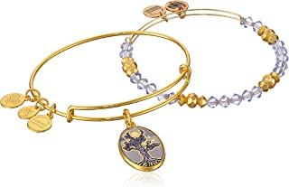Women's Art Infusion Set Tree of Life Bangle Bracelet, Shiny Gold, Expandable