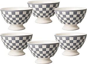 Kom Amsterdam 6X361313x 8cm Set of 6Medium Bowl–Damier Grey