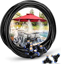 HOMENOTE Misting Cooling System 26.2FT (8M) Misting Line + 9 Brass Mist Nozzles + a Brass Adapter(3/4