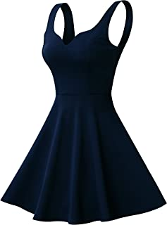 Women's Sleeveless Sweetheart Flared Mini Dress