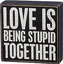 لافتة بوكس كلاسيك لاف إز بينج ستيوبد من بريمتشيفز باي كاثي