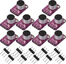 10 قطعه Electret میکروفون تقویت کننده قابل تنظیم MAX4466 ماژول میکروفون پیش تقویت کننده صفحه نمایش Breakout Blue سازگار با Arduino