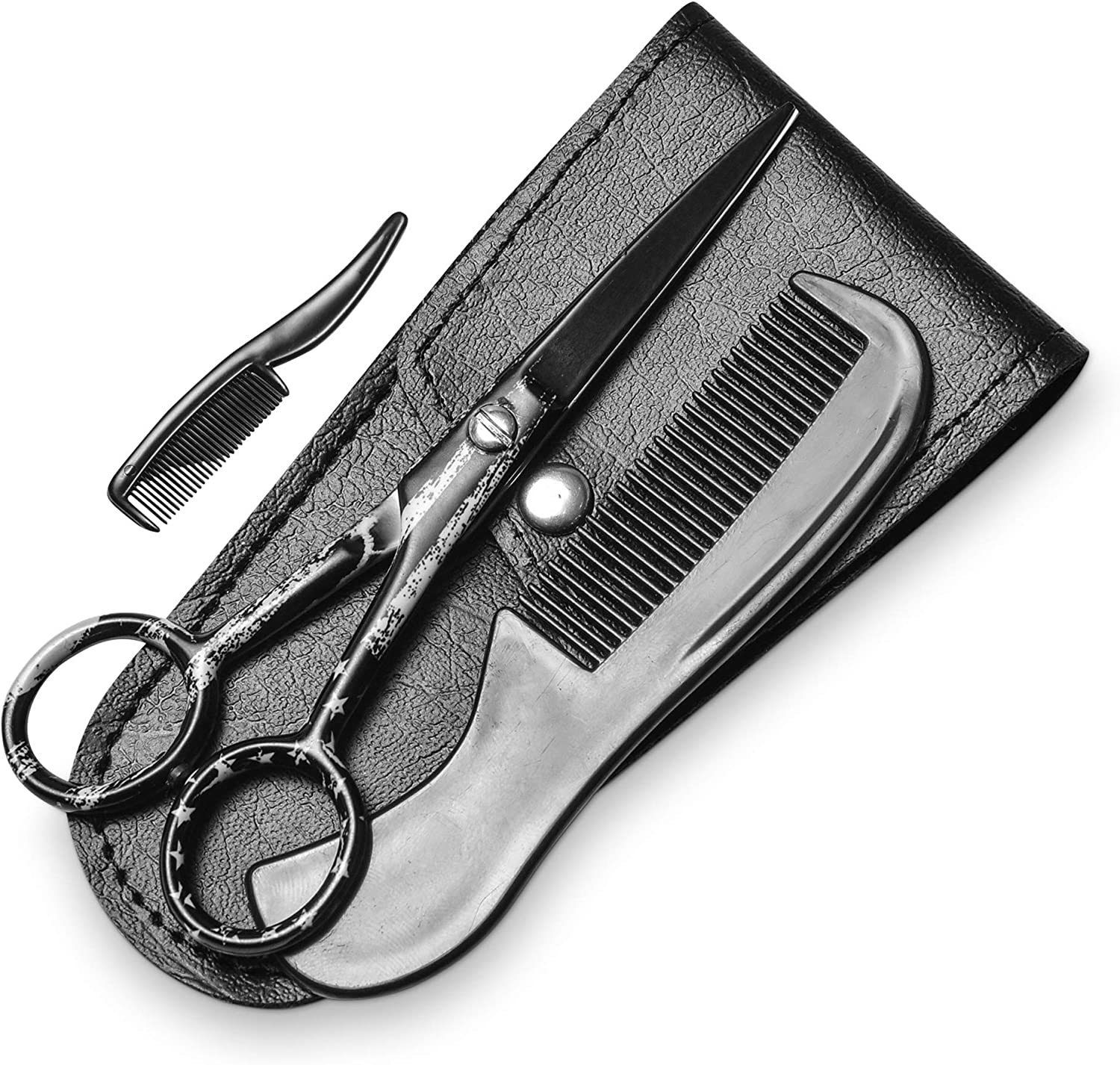 ONTAKI Beard Mustache Scissors With Pouch Comb - Th sold out Carrying Sale item