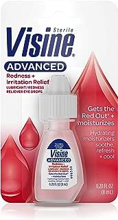 Visine Advanced Redness + Irritation Relief Eye Drops for Dry & Red Eyes, 0.28 fl. Oz (Pack of 6)