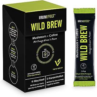 BRAINEFFECT WILD BREW - Lion´s Mane & Chaga Mushroom Coffee - Hooggedoseerde Pruikzwam- en Chaga Poeder (30% paddenstoelen...