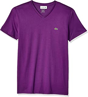 Lacoste Men's Short Sleeve V Neck Pima Jersey T-Shirt, TH6710