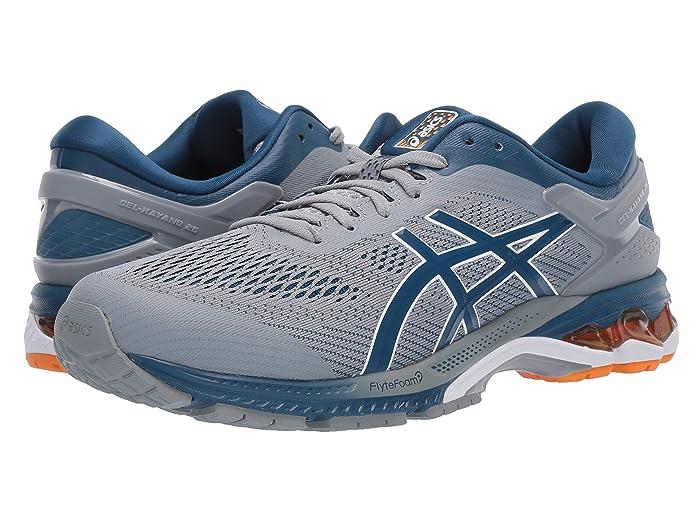 ASICS  GEL-Kayano 26 (Sheet Rock/Blue) Mens Running Shoes