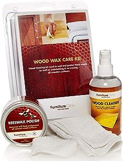 Furniture Clinic - Komplettes Möbelpflege Set zur intensiven Reinigung und Pflege aller Holzmöbel. Das Premium Set beinhaltet 250ml Holz Reiniger und 200ml Bienenwachs Politur