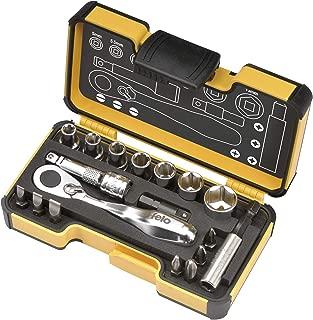 Felo 61561 XS 18pc Box Sockets, Bits, Mini Ratchet, Bitholder, Metric