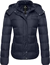 Wantdo Women's Hooded Warm Winter Coat Quilted Thicken Puffer Jacket with Removable Hood