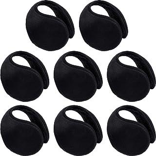 8 بسته پوشش گرم کننده گوش برای مردان زنانه پشم گوسفند زمستان گرم سیاه و سفید Unisex