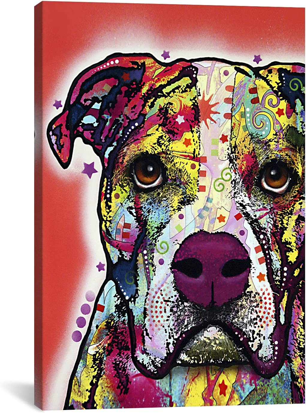 iCanvasART Ranking TOP12 American Bulldog by Dean #13525 – Canvas Russo Print SALENEW very popular!