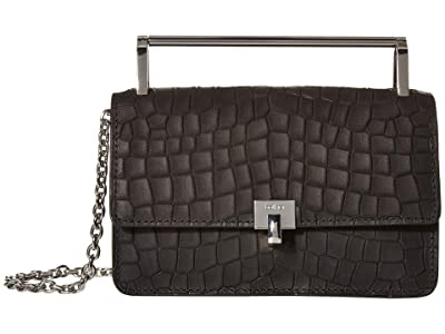 Botkier Lennox Crossbody (Black Croco) Cross Body Handbags