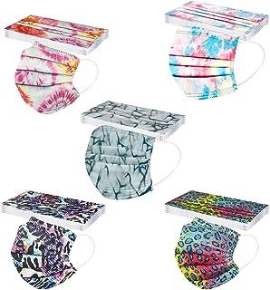 N / N 50 Piezas Adultos Moda De_Mascarillas Con estampado 1 paquete de 5 colores 3 Capas para Son Adecuadas Adecuado fiest...