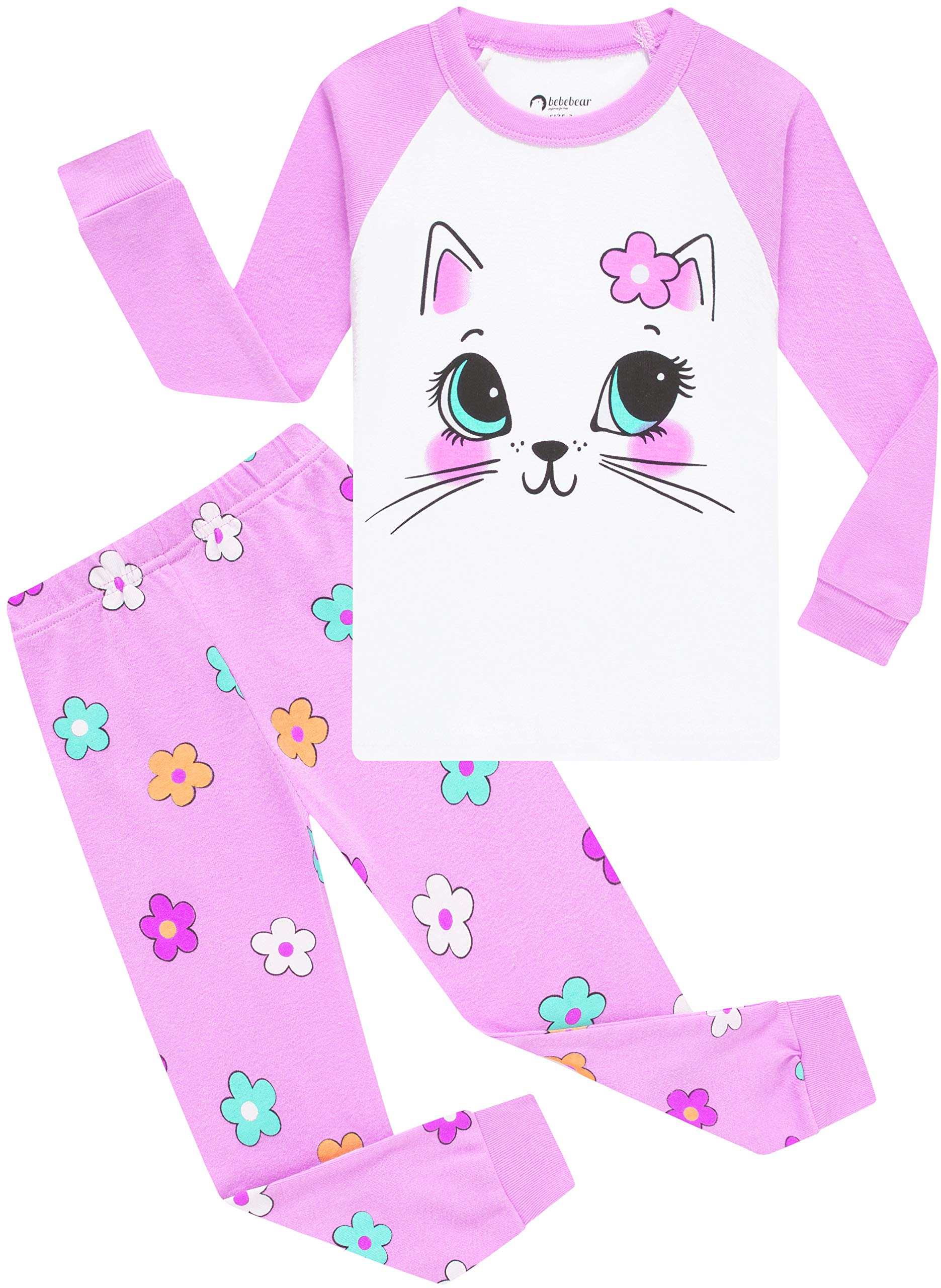 Image of Adorable Pretty Kitty Cat Pajamas for Girls