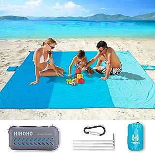 HIHOHO Sand Proof Beach Blanket, Large 82