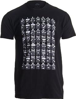 Guitar Chord Chart | Cool Musician Guitarist Teacher Music Playing Notes T-Shirt