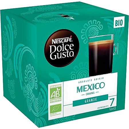 Nescafé Dolce Gusto Grande Mexico Bio - Café - 72 Capsules (Pack de 6 boîtes x 12)