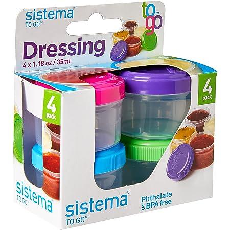 Sistema SI21470 Boîte Alimentaire Dressing to Go 4x35 ML, Plastique, Multicolore, 45x35x25 cm