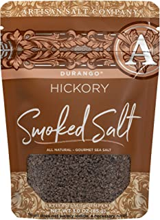 SaltWorks Durango, Hickory Smoked Sea Salt Artisan Zip-Top Pouch, 3 Ounce
