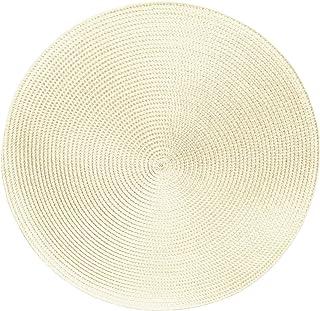 Sets de table -Serie Marrakech - Lot de 4 - différentes tailles et couleurs, Fibres synthétiques, Ecru blanc., Ø 38 cm