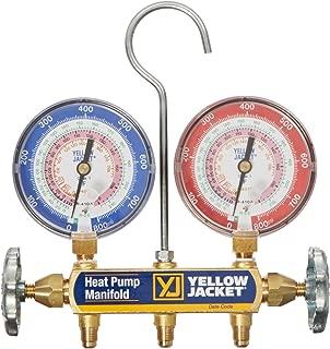 Yellow Jacket 42041 Heat Pump Manifold, R/22/407C/410A, Degrees F Brand Yellow Jacket