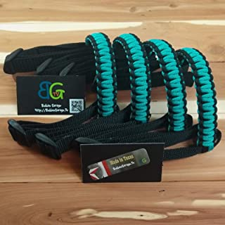 Reversible Paracord Jeep Wrangler Grab Handles - Black & Turquoise - Pick your pairs