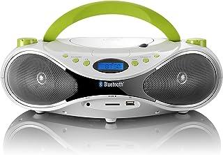 LENCO SCD-50 BT Portable PLL FM FM Stereo Radio with Bluetooth (CD, USB, SD Card Reader, AUX Input)